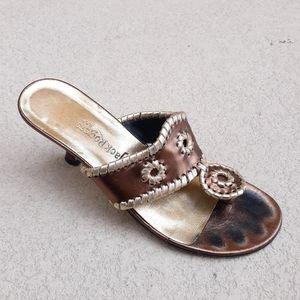 JACK ROGERS Rondel Kitten Heel Sandal